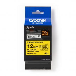 12mm Black on Yellow Tape - 8Mtr