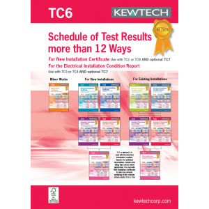 18th Edition Certification Book - Test & Inspection (3 phase)