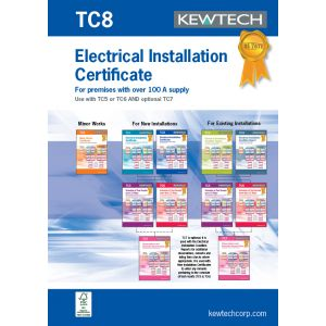 18th Edition Certification Book - Electrical New Installation 100A+