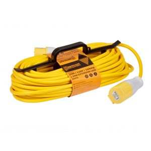 25M 110V H Frame Extension Leads - 16A 2.5mm