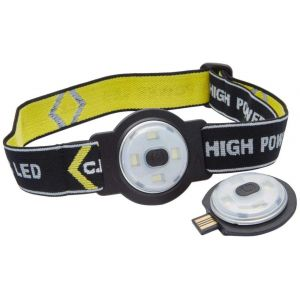 LED Head Torch - 80 lumens USB Rechargeable - Twin Pack