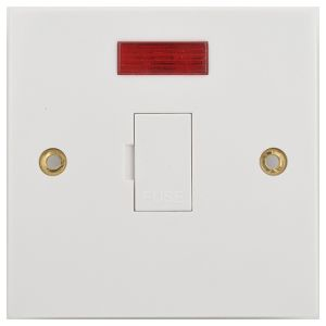 3 & 13 Amp Fused Connection Units - Unswitched with neon
