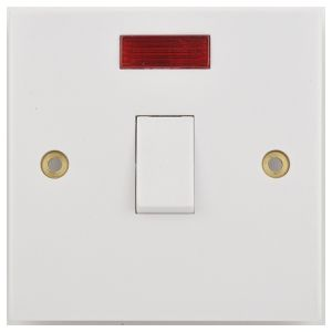 20AX DP Plate Switches - DP with flex outlet & neon