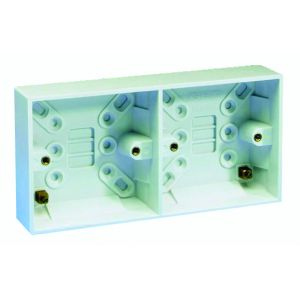 Surface Pattress Boxes - 25mm Dual