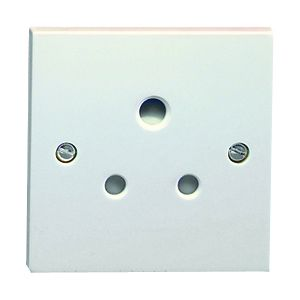 5 Amp Round Pin Socket - 1 gang unswitched