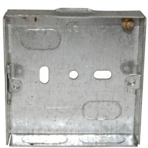 Metal Switch & Socket Boxes - 1 Gang Oval Adj. 16mm