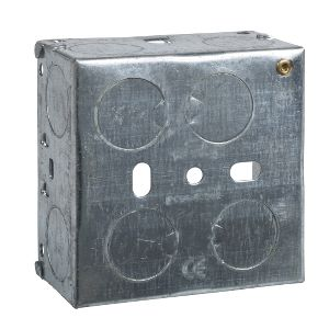 Metal Switch & Socket Boxes - 1 Gang Round KO Adj. 35mm