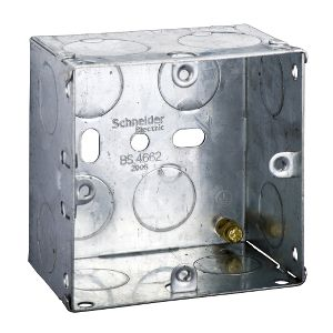Metal Switch & Socket Boxes - 1 Gang Round KO Adj. 47mm