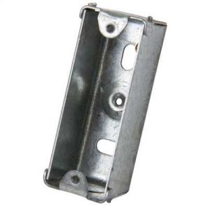 Metal Switch & Socket Boxes - 1 Gang Round KO Fixed 27mm