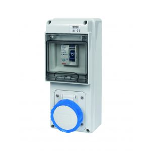 Unswitched RCD Protected Sockets - 16A 230V 2P+E, c/w 25A