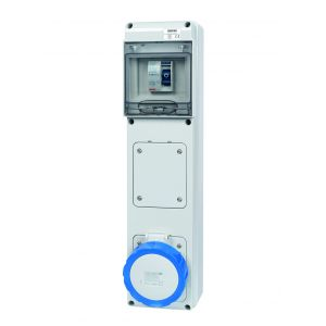 Unswitched RCD Protected Sockets - 32A 230V 2P+E, c/w 40A
