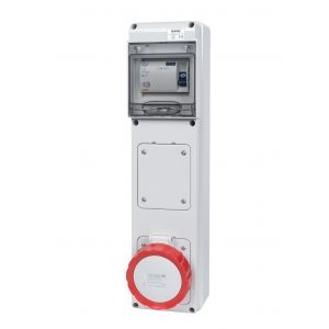 Unswitched RCD Protected Sockets - 32A 415V 3P+E, c/w 40A