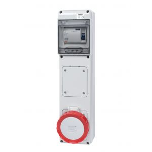Unswitched RCD Protected Sockets - 32A 415V 3P+N+E, c/w 40A