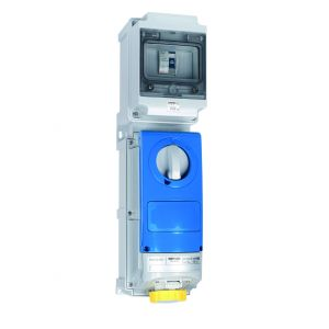 Switched Interlocked RCD Protected Sockets - 16A 110V 2P+E, c/w 25A