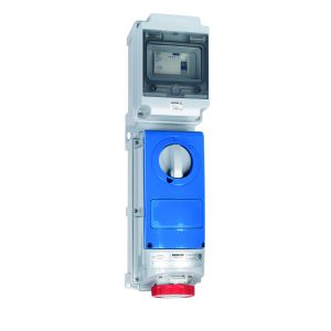 Switched Interlocked RCD Protected Sockets - 16A 415V 3P+N+E, c/w 25A
