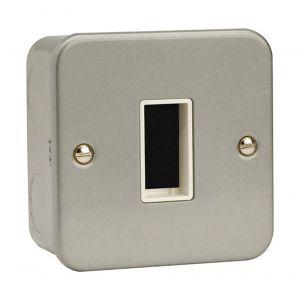 Modular Switch Plates - 1 gang 1 aperture metalclad