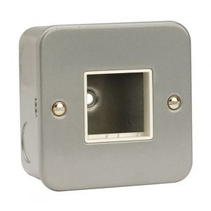 Modular Switch Plates - 1 gang 2 aperture metalclad