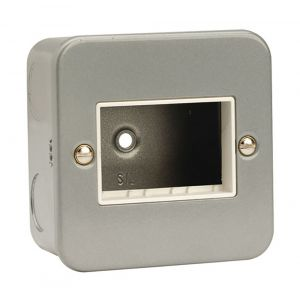 Modular Switch Plates - 1 gang 3 aperture metalclad
