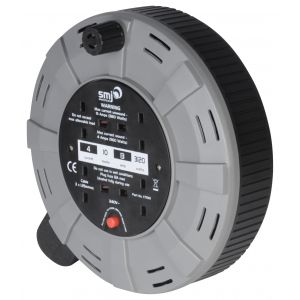 Cassette Reels - 10 metres - 4 socket cable reel with thermal cut out