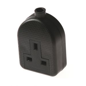 Unwired Rubberised Sockets - 13A 1 gang extension socket - black