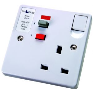 RCD Single & Double Sockets - RCD socket 1 gang 30mA 13A - white