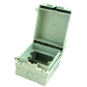 IP65 Rated single gang socket enclosure