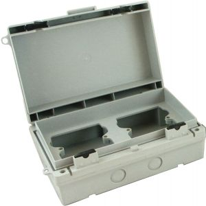 IP65 Rated 2 x 1 gang socket enclosure