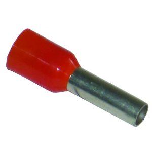 Single Entry Bootlace Ferrules - 4.0mm (Qty 100) - Orange