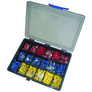 Terminal Kit Boxes - Selection of 18 pre-ins terminals 0.5mm to 6.0mm (Qty 450)