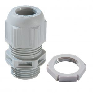 IP68 Nylon Cable Glands - 40mm (Qty 5) - Grey