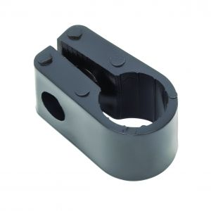 Black Polypropylene Cable Cleats - 12.7 (max) No.5 (Qty 100)
