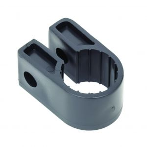 Black Polypropylene Cable Cleats - 20.3 (max) No.8 (Qty 100)
