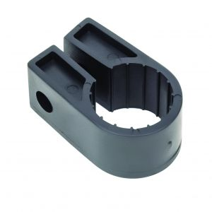 Black Polypropylene Cable Cleats - 22.8 (max) No.9 (Qty 100)