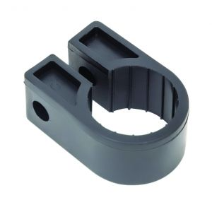 Black Polypropylene Cable Cleats - 25.4 (max) No.10 (Qty 100)