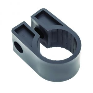 Black Polypropylene Cable Cleats - 27.7 (max) No.11 (Qty 100)