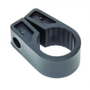 Black Polypropylene Cable Cleats - 40.6 (max) No.16 (Qty 50)
