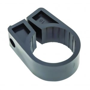 Black Polypropylene Cable Cleats - 45.7 (max) No.18 (Qty 50)