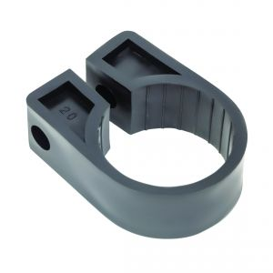 Black Polypropylene Cable Cleats - 50.8 (max) No.20 (Qty 50)