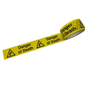 Laminated Tape - Danger of Death - 48mm x 33mtr Roll