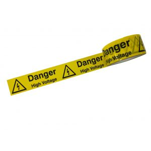 Laminated Tape - Danger High Voltage - 48mm x 33mtr Roll