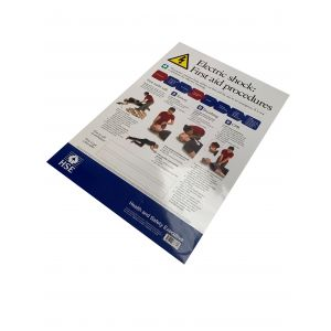 Laminated Poster - Health & Safety Electric Shock - A2
