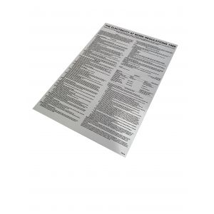 Laminated Poster - Electricity at Work Regulations - A2