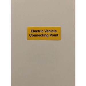 Self Adhesive Vinyl Labels - EV Connecting Point - 75x25mm 10pk