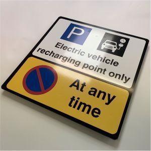 Rigid PVC Signs - EV Recharging Point Wall Sign - 400x400mm
