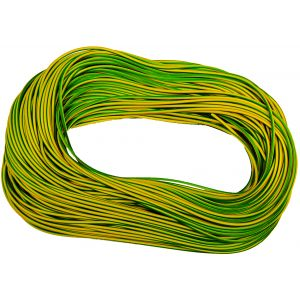 Cable Sleeving - 100m Hanks 3mm green / yellow