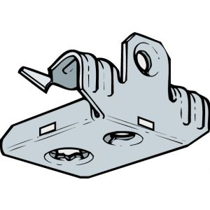 Universal Beam Clips - 3 - 7mm x 35 (Qty 25) - Silver