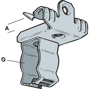 Universal Conduit Beam Clips 3-7mm (Qty 10) - Silver