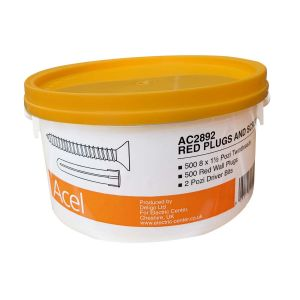 Trade Tub Red Plugs & Screws