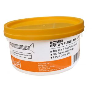 Trade Tub Brown Plugs & Screws