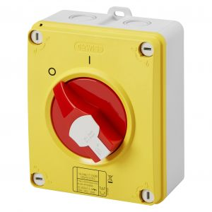 IP69 Rotary Isolator Switches - 32A 3 Pole - 150mm (H) x 125mm (W) x 92.3mm (D)